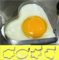 Wholesale Hot Sale stainless steel heart shaped fried eggs for breakfast Kitchen Gadgets love heart shaped fried egg ring mold