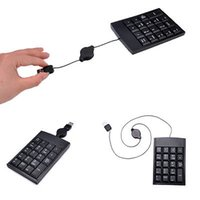 Wholesale USB Stretchable keys Numeric Number Keypad Keyboard For Laptop Desktop PC
