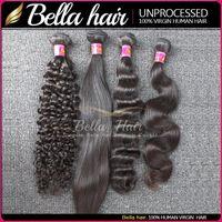 Peruvian Hair remy hair deep wave - Brazilian Hair Weave Remy Human Hair Bundles Virgin Curly Human Hair Weave Straight Body Wave Loose Deep Hair Extensions Bella Hair