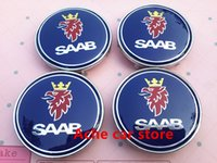 Wholesale Exterior Accessories Emblems mm Saab car emblem modification Wheel Center Hub Cap wheel Badge covers Accessories