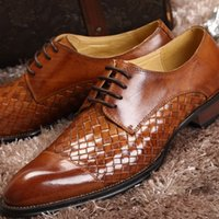 best weave brands - Best Quality Luxury Brands Designer High end Genuine Leather Weave Shoes Men Fashion Business Style Pointed Toe Dress Shoes
