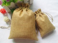 food wrap - Wholse cm cm Handmade Drawstring packaging burlap Wedding Party Christmas Jewelry Gift pouches jute bags