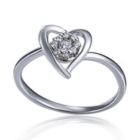 Cheap New Jewelry 18k White Gold Engagement Ring - Wedding Ring - Anniversary Ring - Promise Ring - Cubic Zirconia Ring - CZ Ring