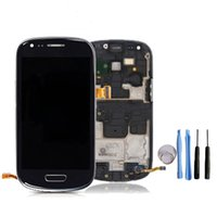 Cheap Brand New Original For Samsung Galaxy S3 mini LCD Touch Screen Assembly Complete with Frame for GT- i8190 Free DHL Shipping