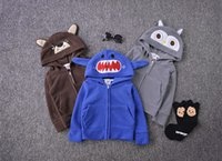 baby boy denim jacket - baby outerwear cartoon childrens coats autumn kids clothing cute bear shark owl hooded boys jacket fashion coats