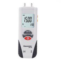Wholesale 1ps Digital LCD Backlight Manometro Pressure Gauges Differential Air Pressure Meter Gauge PSI Instrument Data Hold