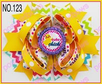 Wholesale newest Good Easter festival hair bows Girl Hair Bows clip girl hair boutique hair bows