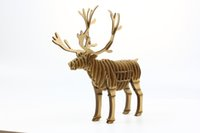 Wholesale 2015 New Arrival D Jigsaw Puzzle Assembled Animal Corrugated Puzzles DIY Model for Children Toys Birthday Gift Christmas Decorations Gifts