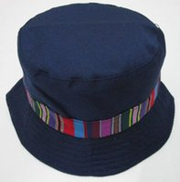 Wholesale New Fashion Outdoor Men Black Amy Green Navy Bucket Hats with Tribal Striped belts