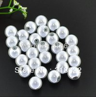 Wholesale mm White Mircale Beads Plastic Chunky Beads Acrylic Gumball Bead Chunky Necklace Jewelry