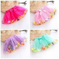 Wholesale New Arrival Summer Baby Girls Chiffon Tutu Skirt Cute Princess Party dress Sparkle Fluffy Pettiskirts Kids Silk Ballet Skirts