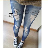 sexy jeans for women - Leggings Slim Tights For Women Sexy European and American Fashion Womens Leggings Seamless Imitation Jeans LRL06