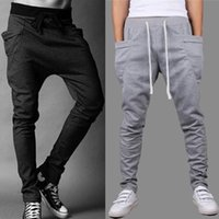 drop crotch pants - Hot Baggy Tapered Bandana Pants Hip Hop Dance Harem Sweatpants Drop Crotch Pants Men Parkour Sport Track Casual Trousers Free Ship