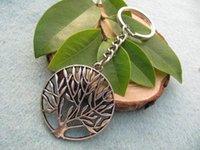 antique life rings - 20pcs tree of life wish tree key ring Jewelry the World Tree Elegant Gothic Lolita keychain antique jewelry steampunk gift