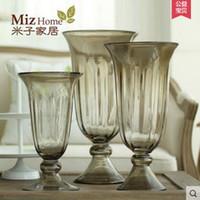 baroque style decor - Miz Home Baroque Style Table Vase for Flower Elegance Glass Home Decor