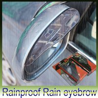 auto weatherstrip - Car Stickers Rearview mirror Rain Shade Universal Block rain PVC Weatherstrip Auto Mirror Rainproof Rain eyebrow set