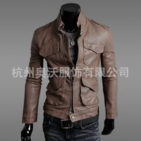 EBay new autumn wholesale purchasing Korean locomotive slim leather jacket special men Pi Yinan Y97