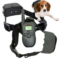 Wholesale NEW LCD Shock Vibra Remote no bark Pet Dog Training Collar D with TWO Collar for Dog