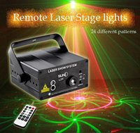 Wholesale SUNY Remote Sensitivity Laser LED lighting holes patterns KTV Stage Lighting Laser flash light