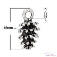 antique pine - Charm Pendants Pine Cone Antique Silver mm x mm B35454 silver plated belt buckle silver bow