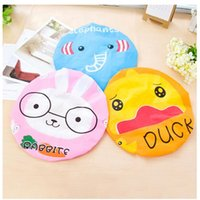animal shower caps - New Design Children Bathroom Products Bathing Cap Hat Cute Cartoon Animal Print Lace Elastic Waterproof Shower Cap For Women