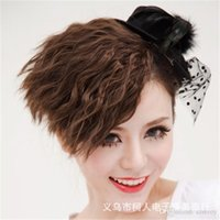 bangs hairpiece - Multiple Use Wavy Corn Curly Colorful Side Bangs Fringe Ponytail Clip in Hair Accessories Hairpiece Fringe Hair Extension Hairpiece LH36