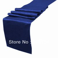 Wholesale Promotional Satin Table Runner Wedding Party Banquet Decoration on Sale
