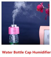 dc caps - Fashion DC V MINI USB Portable ABS Water Bottle Cap Humidifier household Office Air Diffuser Aroma Mist Maker Absorbent Filter Sticks