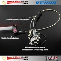Wholesale High Performance KEIHIN PZ30 mm Carburetor Power Jet Accelerating Pump Visiable Throttle Twister Dual Cable IRBIS order lt no track