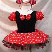 Wholesale 2015 new Minnie Mouse Girl Girls Party Christmas Halloween Costume Ballet Dress Dresses clothing with Headband cm big size