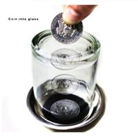 Wholesale Fantastic Coin into Glass Magic Tricks for Kids Novelty Magic Toys for Stage Display