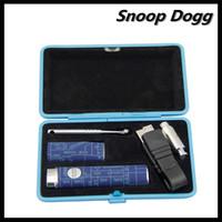 Single Black Metal Nice Metal Case Snoop Dogg G Vaporizer Ecig 350mAH Mini Size Micro USB Herbal E Cigarette Waxy Oil Weed Smoking Epipe Simple Pack Black Blue