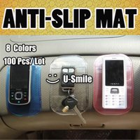 100pcs/lote 8 Colores Pegajosa Fuerte Anti-Resbalón de la Estera Para el Salpicadero del Coche del Teléfono Celular de GPS de la PDA Accesorios Automóvil Regalo Promocional Lavable
