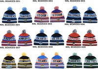 Wholesale Bulldogs Beanies Cool Pom Pom Beanies Knitted Beanie Hat Fashion Skull Caps Leisure Hats Warm Winter Hats NRL Beanies Cap for Men and Women