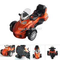 alloy motorbike wheel - 2015 Brand New Kids Toys Cool Scale Three wheels Super Motorbike Diecast Alloy Motorcycle Model Toy Gift For Kids Children