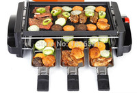 Wholesale hot sale home party cook tool use smokeless portable W electric oven BBQ grill meat ketle suit for persons