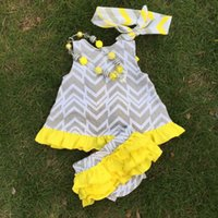 Wholesale 2015 new style Kids wear factory boutique clothes babies arrow swing outfits cute girls clothing with matching necklace and headband