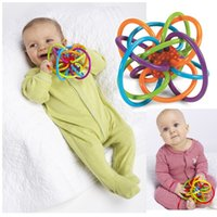 Wholesale Manhattan Ball Toy Winkel Teethers Rattle Teether Activity Rings Baby Feeder Silicone Teething Toys Baby Products For Teeth Ball