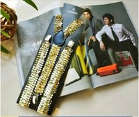 Wholesale brand new Gold Sequin Suspenders Adult Std