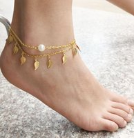 beaded anklets patterns - Beaded Anklets Patterns Gold Silver Anklets for Women Chaine Cheville Barefoot Sandals Bracelet Foot Chain Jewellery