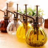 Wholesale 1 Plants Shower Device Crafts Watering Pot Antique Bronz Style Flower Cans Bottle Small Vintage Glass Succulent Garden Tools