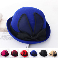 hats elegant - Top Quality Spring Winter Hats For Women Vintage Elegant Soft Felt Hats Bonnet Fedoras Cap Church Hats YH0185 Salebags