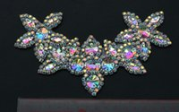 belt strass - pc AB color rhinestone strass applique hair bows sash belt patcted accessories