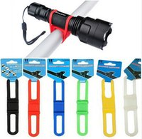 bicycle led rope lights - Silicone Strap Bike Front Light Holder Bicycle Handlebar Phone Fixing Elastic Tie Rope Cycle Bicicleta Torch Flashlight Bandages