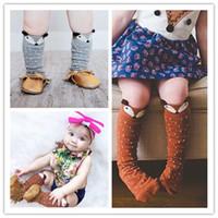 Wholesale Hug Me Baby Girls Socks Lace Childrens Socks for Kids Autumn Winter Little Fox Dot Middle Tube Socks ZZ