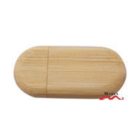 bamboo usb drives - 4GB Wood Memory Flash Pendrive Stick Oval Shaped Bamboo Wooden USB Drive Best Gift Good Quality