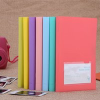 Wholesale 84 Pockets Camera Photo Album Holder Candy Color Book Style Album for Mini Fuji Instax Name Card s s PD221 PD239