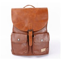 leather canvas laptop bag - Men s Backpack PU Leather Quality Leisure Luggage Travel Bag Laptop Women Rucksack Shcool Bicycle Bags