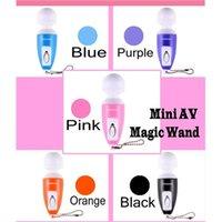 body massage products - Multi Function Magic Wand Massager Mini AV G Spot Vibrator Sex Toy For Female Body Clitoris Massage DHL Free Cheap Sex Products ZD089