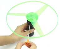 Wholesale Fashion Hot Outdoor Toy Frisbees Boomerangs Flying Saucer Helicopter Spin Disk LED Light